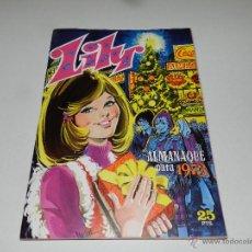 Tebeos: (M-1) LILY ALMANAQUE PARA 1973 , EDT BRUGUERA, IMPECABLE ESTADO DE CONSERVACION. Lote 48195092