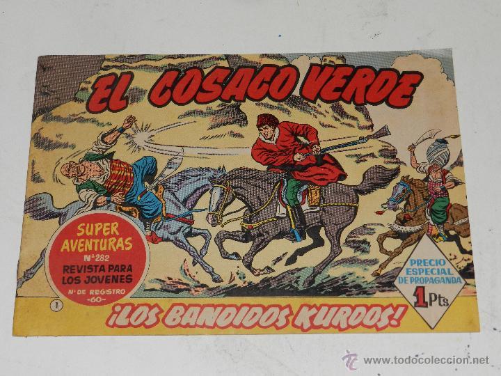 (M-0) EL COSACO VERDE NUM 1 - EDT BRUGUERA , MUY BUEN ESTADO DE CONSERVACION (Tebeos y Comics - Bruguera - Cosaco Verde)