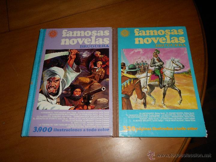 FAMOSAS NOVELAS BRUGUERA TOMOS XVII (17) XVIII 18 1ª EDICION BUEN ESTADO G. (Tebeos y Comics - Bruguera - Otros)