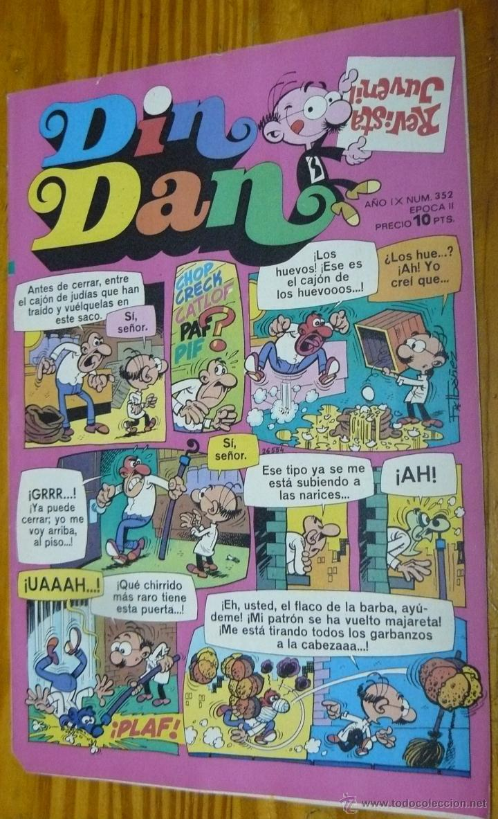 TEBEOS-COMICS CANDY - DIN DAN - Nº 352 - BRUGUERA - 1968 *BB99 (Tebeos y Comics - Bruguera - Din Dan)