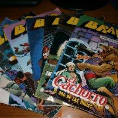Tebeos: LOTE 8 COMICS BRAVO - Nº 1,2,3,4,5,6,7,8 - AÑO I - EDITORIAL BRUGUERA, BARCELONA, 1976.. Lote 49232640