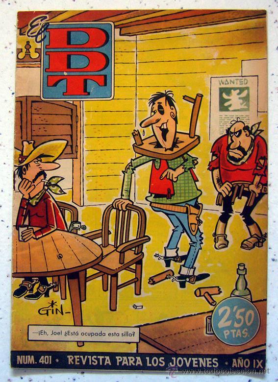 TEBEO-COMIC . DDT . NUMERO 401 . AÑO IX . 1959 (Tebeos y Comics - Bruguera - DDT)