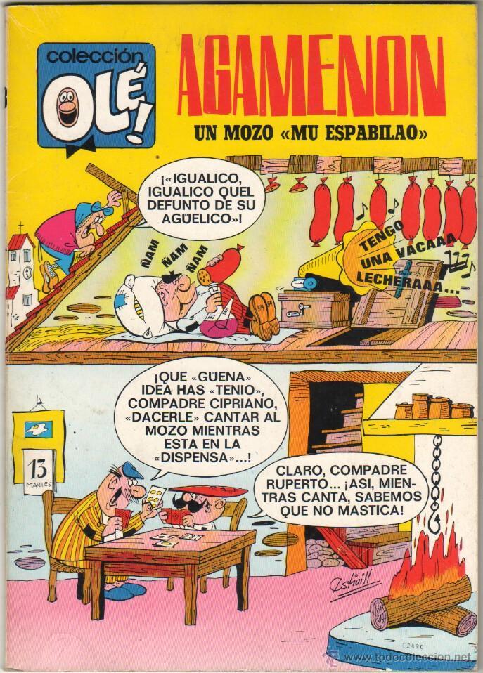 COLECCION OLE Nº 13 EDITORIAL BRUGUERA 1971 1ª EDICION 40 PTS - AGAMENON UN MOZO MU ESPABILAO, EXCEL (Tebeos y Comics - Bruguera - Ole)