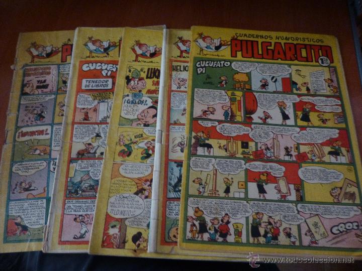 PULGARCITO DE LA QUINTA EPOCA, NUMEROS 67 - 72 - 129 - 148 - 213 + 3 SIN CUBIERTAS QUE IGNORO LOS NU (Tebeos y Comics - Bruguera - Pulgarcito)