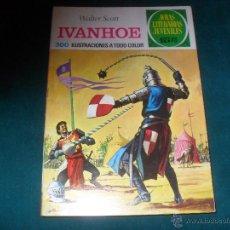 Tebeos: JOYAS LITERARIAS JUVENILES BRUGUERA Nº 16, 1970. WALTER SCOTT, IVANHOE. LABERINTO ROJO. Lote 49700362