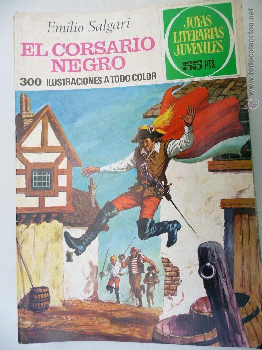 JOYAS LITERARIAS. Nº 95. EL CORSARIO NEGRO. BRUGUERA. 55 PTAS (Tebeos y Comics - Bruguera - Joyas Literarias)