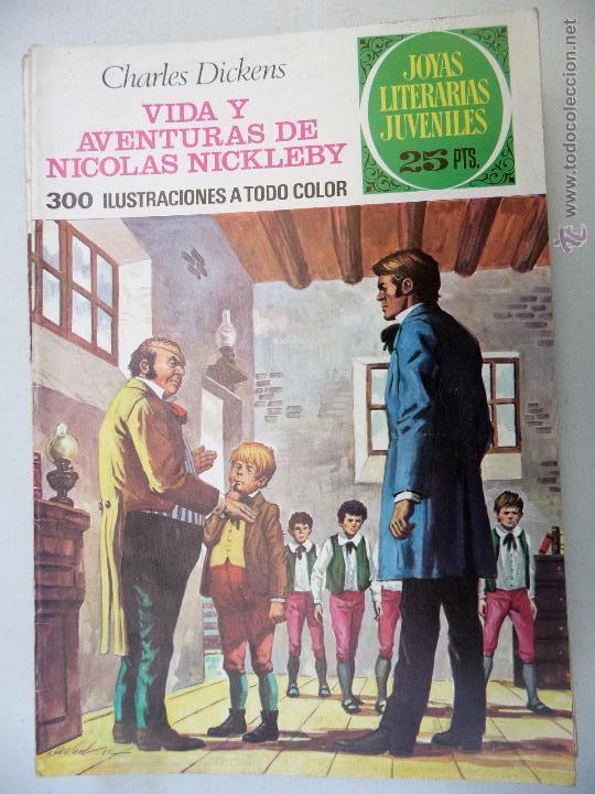 JOYAS LITERARIAS. Nº 148. VIDA Y AVENTURAS DE NICOLAS NICKLEBY. BRUGUERA. 25 PTAS (Tebeos y Comics - Bruguera - Joyas Literarias)