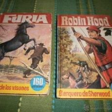 Tebeos: LOTE 2 EJEMPLARES COLECCIÓN HEROES - Nº 63 FURIA Y Nº 64 ROBIN HOOD - EDT. BRUGUERA - 1965.. Lote 49896720