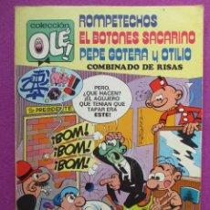 Tebeos: TEBEO, COLECCION OLE,1ª EDICION, ROMPETECHOS EL BOTONES SACARINO Y PEPE GOTERA Y OTILIO,LOMO Nº109,. Lote 50025638