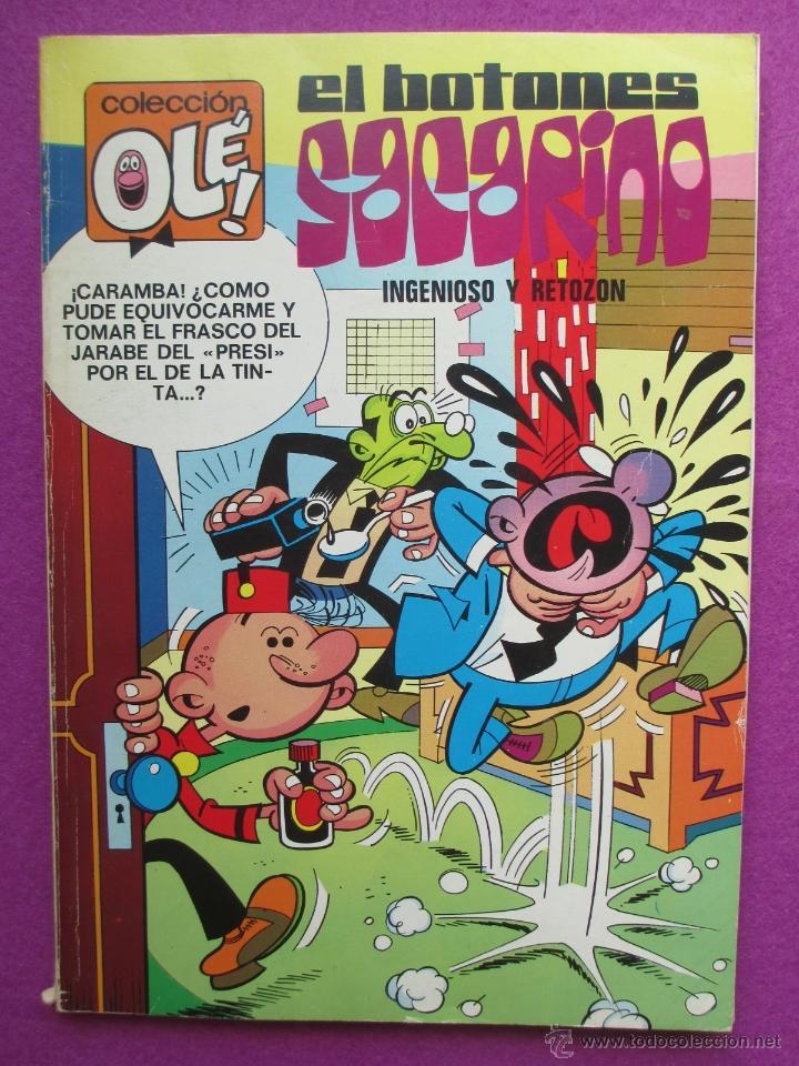 TEBEO, COLECCION OLE, 1ª EDICION, EL BOTONES SACARINO, INGENIOSO Y RETOZON, LOMO Nº68, 1973 (Tebeos y Comics - Bruguera - Ole)