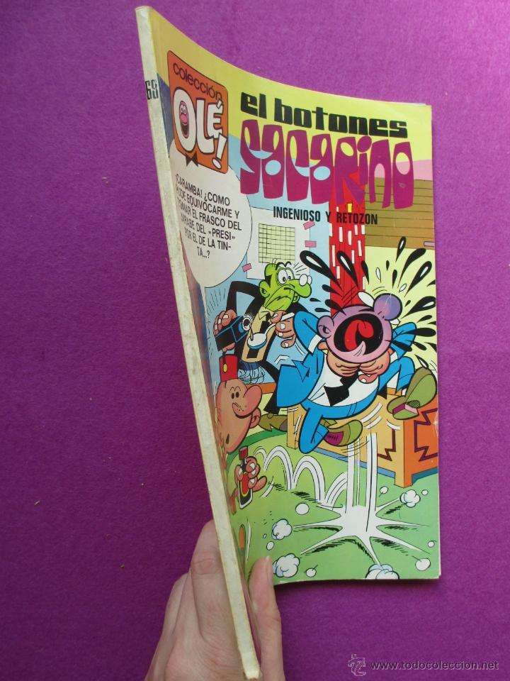 Tebeos: TEBEO, COLECCION OLE, 1ª EDICION, EL BOTONES SACARINO, INGENIOSO Y RETOZON, LOMO Nº68, 1973 - Foto 2 - 50026060