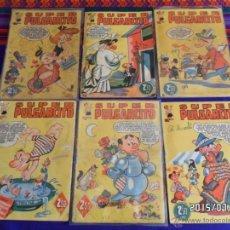 Tebeos: SUPER PULGARCITO NºS 1, 3, 9 NAVIDAD Y REYES, 16, 22 Y 27. BRUGUERA 1949. REGALO Nº 32.. Lote 50205594