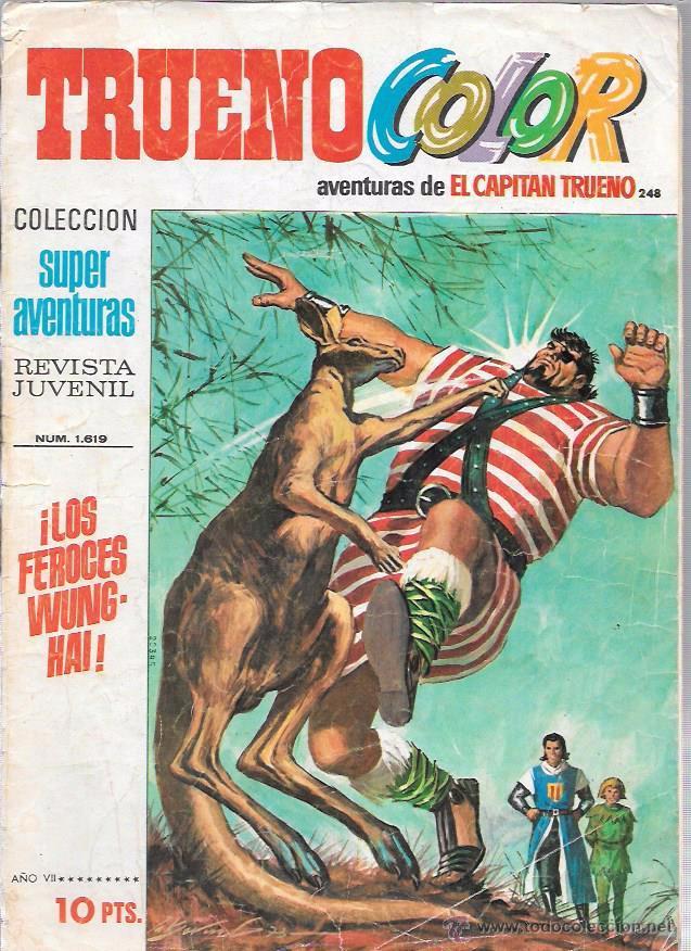 CAPITAN TRUENO COLOR. Nº248. LOS FEROCES WUNGHAI. SUPER AVENTURAS 1.619. BRUGUERA (Tebeos y Comics - Bruguera - Capitán Trueno)