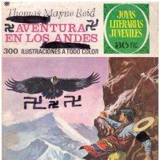 Tebeos: COMIC JOYAS LITERARIAS JUVENILES, Nº 130: AVENTURA EN LOS ANDES - THOMAS MAYNE REID; BRUGUERA, 1978. Lote 50278284
