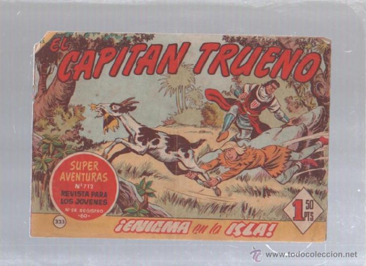 EL CAPITAN TRUENO. Nº 333. ENIGMA EN LA ISLA (Tebeos y Comics - Bruguera - Capitán Trueno)