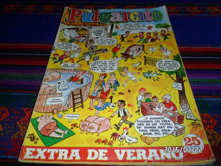 Tebeos: GRAN PULGARCITO EXTRA VERANO 1969. BRUGUERA 25 PTS. MUY DIFÍCIL. REGALO EXTRA VERANO 1973. - Foto 2 - 50422623