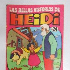 Tebeos: LAS BELLAS HISTORIAS DE HEIDI Nº 24. UNA NUEVA CABAÑA. BRUGUERA. TDKC9. Lote 50426116