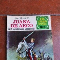 Tebeos: JOYAS LITERARIAS JUVENILES Nº 109: JUANA DE ARCO; ALDO BRNETTI; PRIMERA EDICION. Lote 50562747