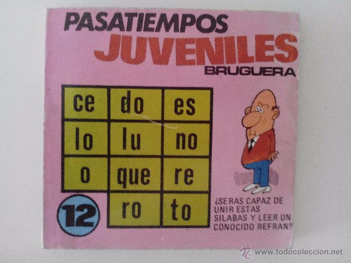 PASATIEMPOS JUVENILES BRUGUERA,3ªEDICION, 1976 (Tebeos y Comics - Bruguera - Otros)