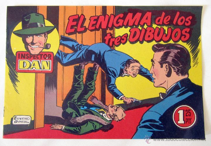 EL INSPECTOR DAN - EL ENIGMA DE LOS TRES DIBUJOS - Nº 12 - BRUGUERA (Tebeos y Comics - Bruguera - Inspector Dan)
