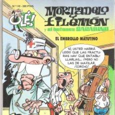 Tebeos: 1 COMIC - AÑOS 2000 - MORTADELO Y FILEMON - OLE - Nº 110 - EL EMBROLLO MATUTINO. Lote 50918361