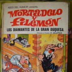 Tebeos: MORTADELO Y FILEMON - ASES DEL HUMOR 20 - LOS DIAMANTES DE LA GRAN DUQUESA - IBAÑEZ - 1973. Lote 50998508