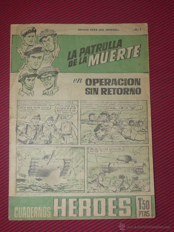 TEBEOS-COMICS GOYO - CUADERNOS HEROES - Nº 1 - LA PATRULLA DE LA MUERTE - 1964 **BB99 (Tebeos y Comics - Bruguera - Cuadernillos Varios)