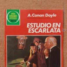 Tebeos: JOYAS LITERARIAS JUVENILES - A. CONAN DOYLE - ESTUDIO EN ESCLARLATA. Lote 51191107