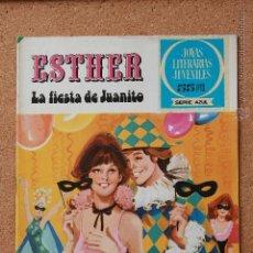 Tebeos: JOYAS LITERARIAS JUVENILES - SERIE AZUL - ESTHER - LA FIESTA DE JUANITO - Nº 10. Lote 51200060