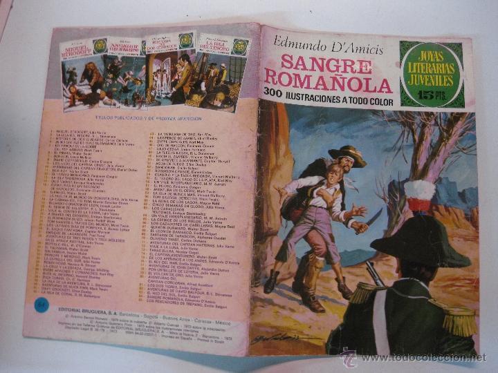 JOYAS LITERARIAS JUVENILES Nº 84. SANGRE ROMAÑOLA. EDMUNDO D'AMICIS. 1ª EDICION 1973 (Tebeos y Comics - Bruguera - Joyas Literarias)