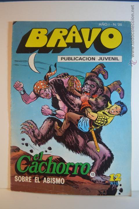BRAVO 25 - EL CACHORRO 13 - SOBRE EL ABISMO - 1976 - BRUGUERA (Tebeos y Comics - Bruguera - Bravo)