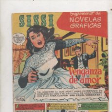 Tebeos: SISSI. SUPLEMENTO DE NOVELAS GRÁFICAS Nº1. VENGANZA DE AMOR.DA. Lote 51254090