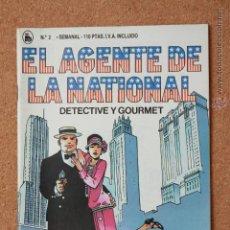 Tebeos: EL AGENTE DE LA NATIONAL - DETECTIVE Y GOURMET - LLORAD EN MI FUNERAL - Nº 2. Lote 51256248