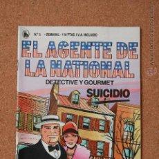 Tebeos: EL AGENTE DE LA NATIONAL - DETECTIVE Y GOURMET - SUICIDIO - Nº 5. Lote 51256270