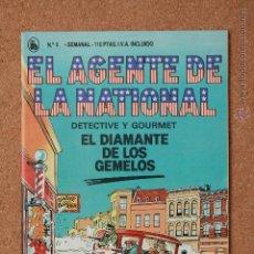 Tebeos: EL AGENTE DE LA NATIONAL - DETECTIVE Y GOURMET - EL DIAMANTE DE LOS GEMELOS - Nº 6. Lote 51256277