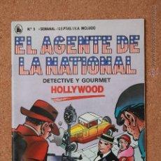 Tebeos: EL AGENTE DE LA NATIONAL - DETECTIVE Y GOURMET - HOLLYWOOD - Nº 9. Lote 51256312