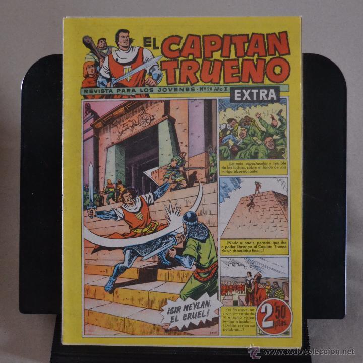 EL CAPITAN TRUENO EXTRA, Nº 28, AÑO I, BRUGUERA 1960. LITERACOMIC. (Tebeos y Comics - Bruguera - Capitán Trueno)