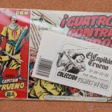 Tebeos: EL CAPITAN TRUENO - COLECCION DAN - NÚMEROS 9 AL 12 - COLECCION COMICS DE ORO. Lote 51341560