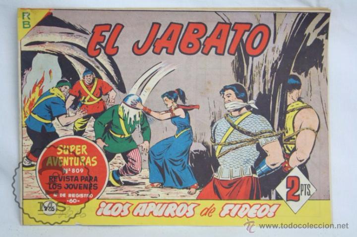 ANTIGUO CÓMIC - EL JABATO. ¡LOS APUROS DE FIDEOS! - Nº 275 - SUPER AVENTURAS, BRUGUERA, 1963 (Tebeos y Comics - Bruguera - Jabato)