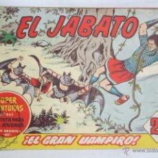 Tebeos: ANTIGUO CÓMIC - EL JABATO. ¡EL GRAN VAMPIRO! - Nº 303 - SUPER AVENTURAS, BRUGUERA, 1964. Lote 51358217