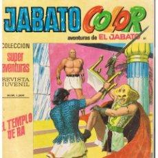 Tebeos: JABATO COLOR. Nº 61. EL TEMPLO DE RA. BRUGUERA 1971 (ST/A2). Lote 51406302