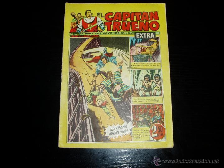 CAPITAN TRUENO EXTRA Nº 36. ORIGINAL. BRUGUERA. (Tebeos y Comics - Bruguera - Capitán Trueno)