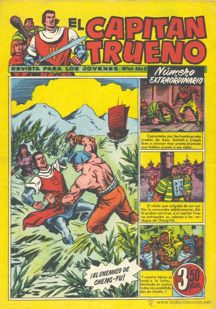 CAPITÁN TRUENO EXTRA Nº64. BRUGUERA, 1961 (Tebeos y Comics - Bruguera - Capitán Trueno)