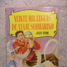 Tebeos: VEINTE MIL LEGUAS DE VIAJE SUBMARINO. JULIO VERNE. COLECCION HISTORIAS. EDITORIAL BRUGUERA 1966. TAP. Lote 51534910