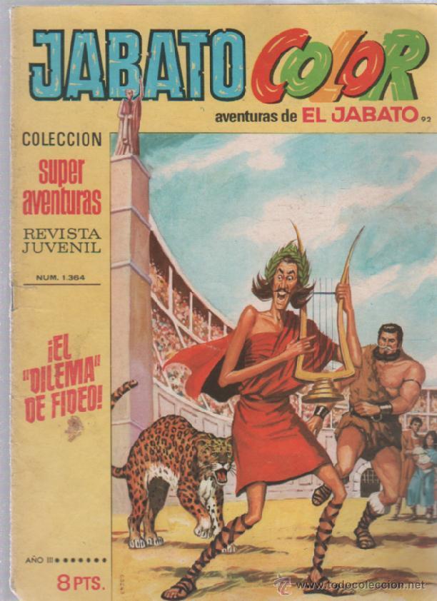 TEBEO JABATO COLOR. 92. COLECCION SUPER AVENTURAS. Nº 1364. EL DILEMA DE FIDEO (Tebeos y Comics - Bruguera - Jabato)