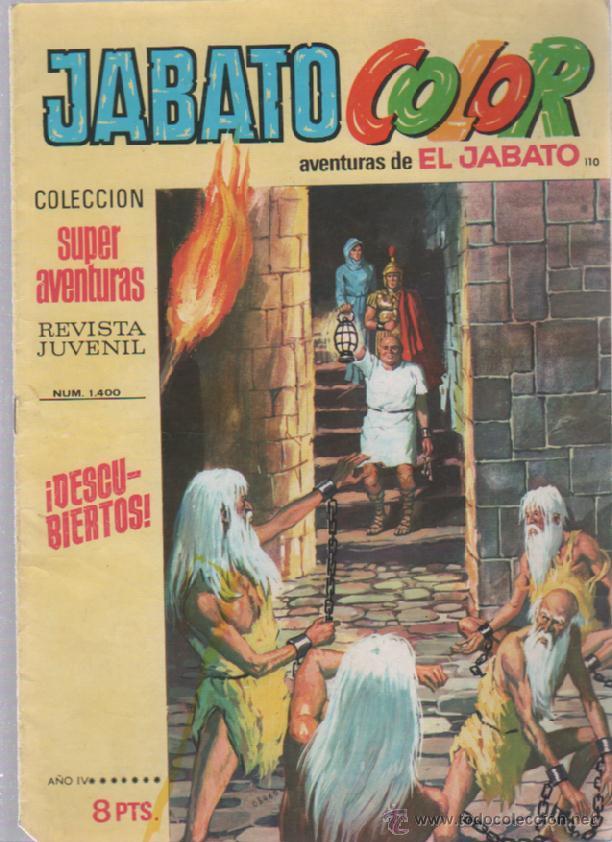 TEBEO JABATO COLOR. 110. COLECCION SUPER AVENTURAS. Nº 1400. DESCUBIERTOS (Tebeos y Comics - Bruguera - Jabato)
