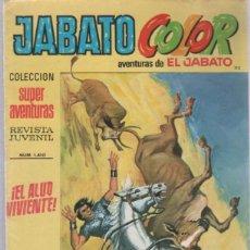 Tebeos: TEBEO JABATO COLOR. 115. COLECCION SUPER AVENTURAS. Nº 1410. EL ALUD VIVIENTE. Lote 51577345