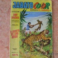 Tebeos: JABATO COLOR,Nº75,EL SECRETO DEL LOBO NEGRO,AÑO VIII,SEGUNDA EPOCA,EDITORIAL BRUGUERA,AÑO 1975. Lote 51627061