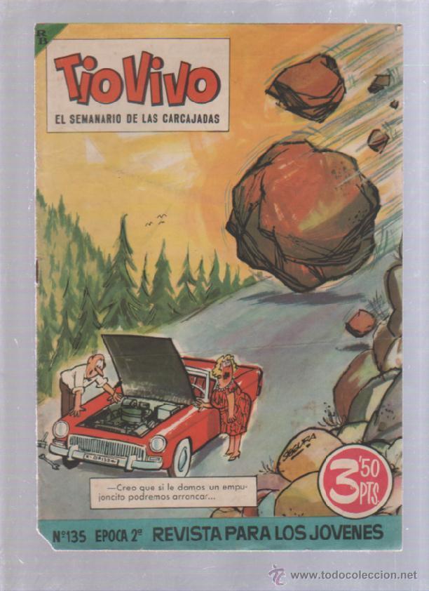 TEBEO TIO VIVO. AÑO VI. Nº 135. EPOCA 2ª. EL SEMANARIO DE LAS CARCAJADAS. OCTUBRE 1963. BRUGUERA (Tebeos y Comics - Bruguera - Tio Vivo)