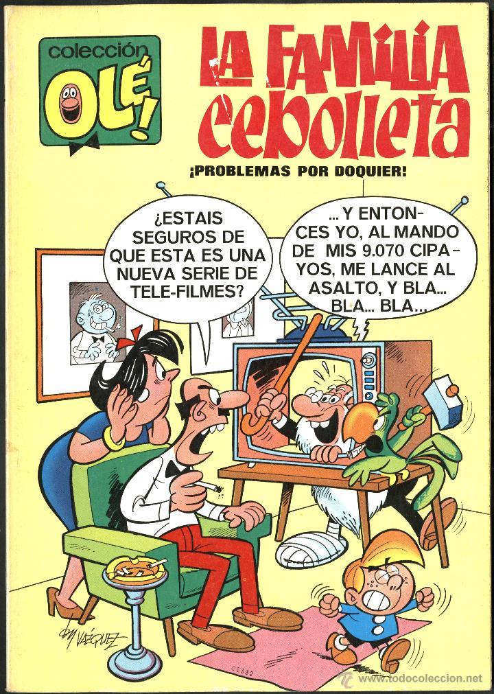 Tebeos: OLÉ Nº 4: LA FAMILIA CEBOLLETA, DE VÁZQUEZ (BRUGUERA, 1971) 1ª EDICIÓN. BUEN ESTADO - Foto 1 - 51676581